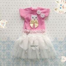 Blythe Dress Dal Pullip Dress Cloth Outfit Tutu Dress Cute Cat Sweet Pink