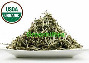 Organic  Bai Hao YIn zhen Silver needle white tea Premium Loose leave Tea 2  OZ