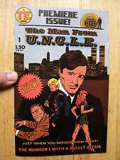 2 Issues THE MAN FROM U.N.C.L.E. COMICS Gold Key Nov 66 & TE Premiere Jan 87 VG