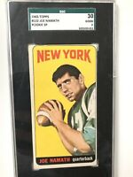 1965 Topps Joe Namath #122 Football Card SGC 2