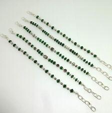 NATURAL GREEN AVENTURINE GEMSTONE BEADED BEAUTIFUL BRACELET 46 GRAMS 5 PC LOT