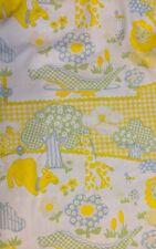 2 Wamsutta BabyCale 100% Cotton Fitted Crib Sheet & 1 Matching Pillowcase Yellow