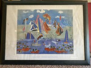 RAOUL DUFY 1940-50's MARINE AUX VOILIERS LITHOGRAPH PRINT SIGNED *RARE*