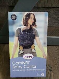Boppy ComfyFit Baby Carrier 0m+ 8-35 lbs Soft Wrap Comfort Black Gray Camo
