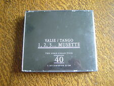 coffret 2 cd valse / tango 1, 2 , 3 ... musette the gold collection 40 l'accorde
