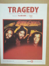 song sheet TRAGEDY The Bee Gees 1979