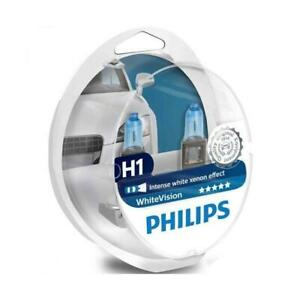 Philips H1 55w WhiteVision Car Headlight Bulbs (Twin) BRAND NEW IN STOCK