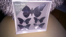 5 Stunning Home Style 3D Mirrored Butterfly Self Adhesive Room Decorations BNIB