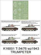 Montex 1/16 tank masks for T-34/76-1943 by Trumpeter - K16001