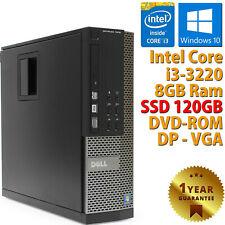 PC COMPUTER RICONDIZIONATO DELL 7010 SFF CORE i3-3220 RAM 8GB SSD 120GB WIN 10