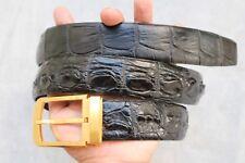 Without Jointed -Black Genuine Alligator, CROCODILE Leather Skin Men's BELT #T08