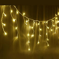 500 LED IP44 Warm White Christmas Wedding Party Icicle Lights with 8 Functions