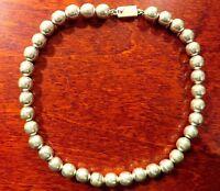 Hübsche 925 Silber Collier Kette Kugeln Klassisches Design Retro Vintage Modern