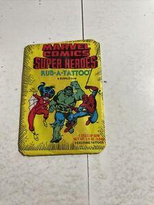 1980 DONURSS MARVEL COMICS RUB - A - TATTOO UNOPENED PACK - SPIDERMAN