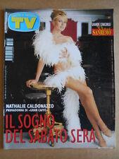 TV SORRISI E CANZONI  n°5 1998 Nathalie Caldonazzo Mara Venier e figlia [GS49]