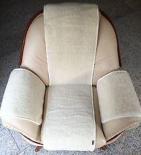 Housse de fauteuil 3 pièces en laine mérinos BOUCLÉ, jeté ,100% laine