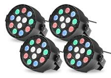 4x DJ LED Party Spot RGBW DMX Auto Lichteffekt Strobe Scheinwerfer Disco kompakt