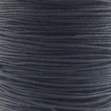 1.5mm Shamballa/Chinese Knotting Nylon Cord - Black - 3m