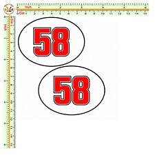 Adesivi marco simoncelli 58 sticker sic helmet decal auto moto print pvc 2 pz.