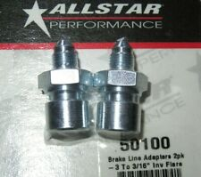 "AllStar Steel Brake Line Adapter -3 An To 3/16"" Inverted Flare 2pk All50100"
