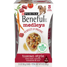 Purina Beneful Medleys Tuscan Style 3 - 3 oz Cans