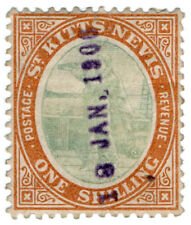(I.B) St Kitts Revenue : Duty Stamp 1/-