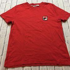90s VTG FILA Big Logo BJ BJORN Borg Box Logo F1 Red T Shirt Tennis Racing L og