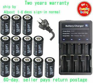 Multi Charger+12PCS Camera Rechargeable Battery CR123a RCR123a 16340 3.7v 650mAh