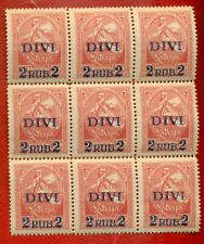 LATVIA LETTLAND 1920-21 BLOCK OF 9 STAMPS Sc.90 MNH 938