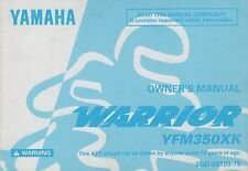 1998 YAMAHA ATV WARRIOR  YFM350XK OWNERS MANUAL 3GD-28199-79 (520)