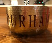 Round Decorative Hammered Metal Personalized Candles