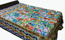 Beautiful Cotton Printed Patchwork Bedcover Bedsheet Bedspread Sheet Coverlet