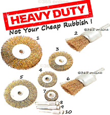 10  Wire Cup/Wheel Brush Set For Drill Steel Brass Metal Cleaning Rust Sanding