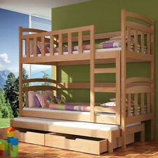 Bunk Bed DAMIAN with Mattresses, Bunk Bed, Storage Container, Pine Wood, New