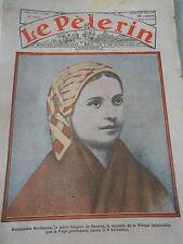 Bernadette Soubirous petite bergère de Bartrès dessin Print 1933