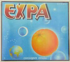 EXPA astronomy   space orange fruit  crate label