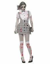 Zombie School Girl Womens Adult Dead Student Halloween Costume-STD