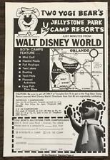 1974 Yogi Bear's Jellystone Park Campground Print Ad