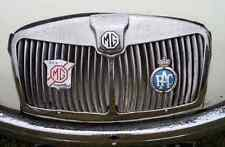 MG Bonnet 2428 Grille Real Photo A4 Metal Sign Aluminium