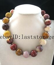 """agate egg round 20mm yellow necklace 18"""" nature wholesale beads bigger"""