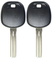 2 New Short Uncut Ignition Chipped Key Transponder Chip Blank Replacement 4C