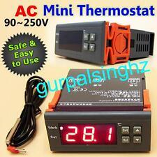 New AC 90V-250V Digital Temperature Controller Thermostat -50℃~110℃ MH1210W LED