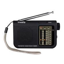 Tivdio V-117 Portable Radio Fm / Am / Sw full band Emergency Radio Receiver New
