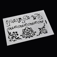 Crown Flower Vine Layering Stencil Scrapbooking Embossing Paper Card DIY Craft J