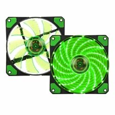needcool 12025 120x120x25mm 3 Pin Verde 15x LED ULTRA SILENCIOSO CAJA Ventilador