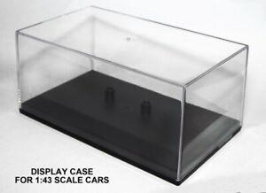 Cararama 1:43 Scale Model Display Perspex Case 135mm x 80mm x 63mm
