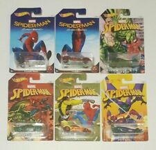 """Hot Wheels 2017 SPIDER-MAN """"HOMECOMING"""" Complete Set of 6, NEW"""