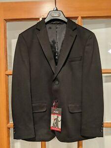 Men's Van Heusen Black Flex Suit Sport Jacket 38 Short Slim Fit - Worn Once