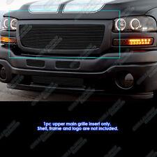 Fits 2003-2007 GMC Sierra 1500/2500HD/3500 Black Billet Grille