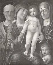 D0120 Andrea Mantegna - La Sacra Famiglia - Stampa d'epoca - 1930 old print